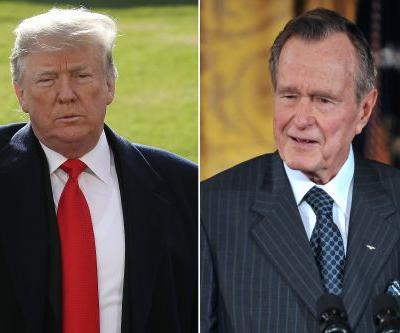 Trump reacts to death of George H.W. Bush