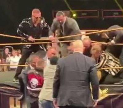 Caught on camera: Man attempts to tackle wrestling champion Bret Hart during Hall of Fame speech