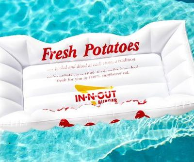 In-N-Out Burger Releases French Fry Boat Pool Float Perfect For Lounging