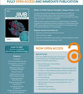 New for 2021 - JIMB fully open-access and immediate publication
