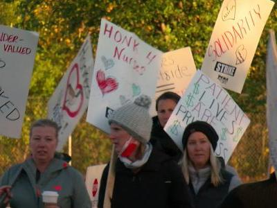 Nurses Complete First Day Of Strike At Plymouth's WestHealth