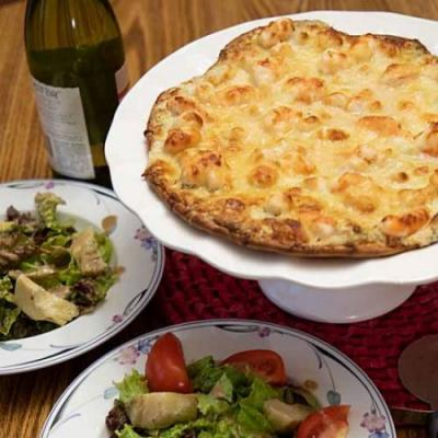 White Seafood Pizza