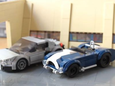 This Cool Fan-Made LEGO Iron Man Garage Has Some Great Models Of The Audi R8 And AC Cobra, Too