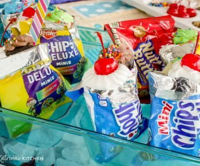 Pool Party Cake and Ice Cream Bags