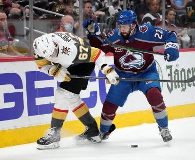 Stone scores early in OT, Knights beat Avs 3-2 in Game 5