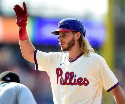 Jankowski drives in 4, Phils beat Marlins 5-2 in DH opener
