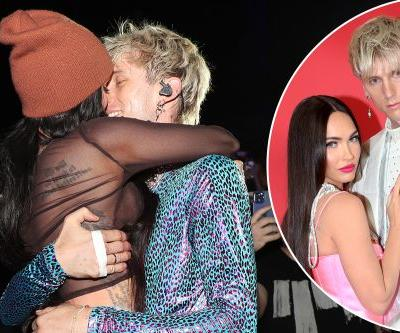 Megan Fox and Machine Gun Kelly pack on the PDA during his LA show