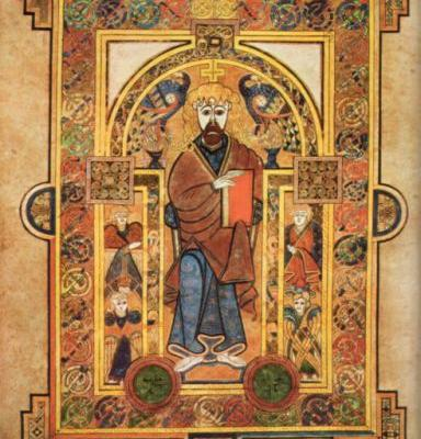 The Book of Kells - Christ Enthroned
