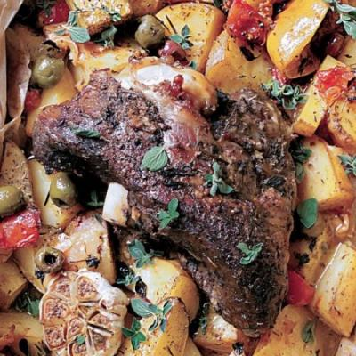 Greek Slow Roasted Leg of Lamb