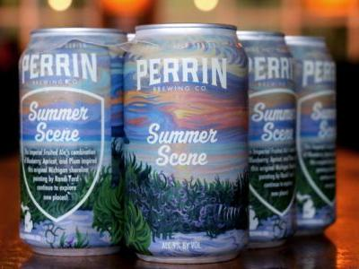 Work of art: Can for new Perrin brew painted by Michigan artist