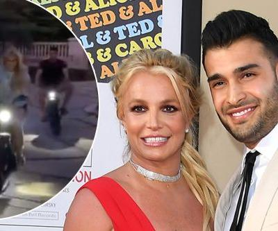 Britney Spears rides motorcycles with Sam Asghari after putting family on blast