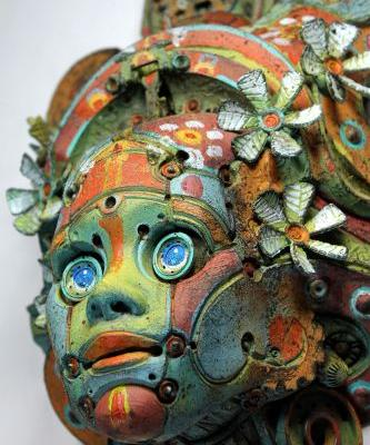 Steampunk Busts Sculpted from Resin and Repurposed Objects Evoke Futuristic Relics