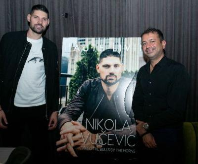 NBA All-Star Nikola Vucevic Celebrates 'Haute Living Chicago' Cover at Maple & Ash Party