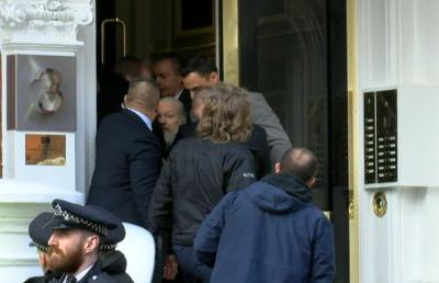 WATCH Julian Assange dragged out of Ecuadorian embassy and arrested