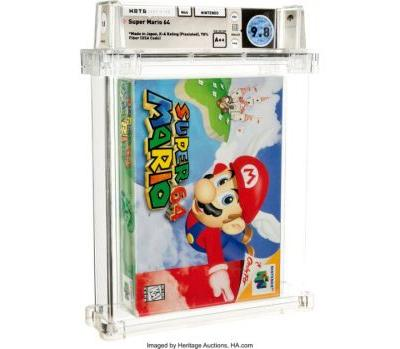 Unopened Super Mario 64 game from 1996 sells for record $1.56M