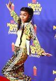Yara Shahidi Premieres Her New Adidas Tracksuit With Vintage Cartier Jewels and a Bustier