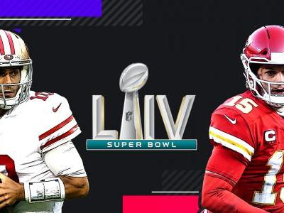 Printable Super Bowl squares grid for 49ers vs. Chiefs in 2020