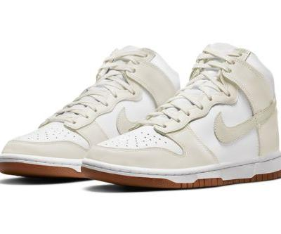 """Nike Dunk High Surfaces With """"Sail"""" Uppers and Gum Bottoms"""