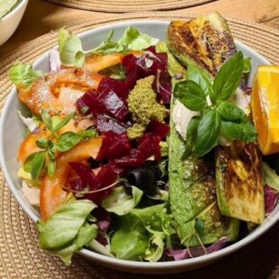 Grilled Zucchini and Beetroot Salad