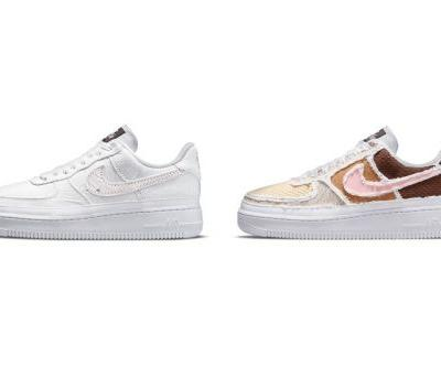 "Nike Air Force 1 ""Texture Reveal"" and ""Pastel Reveal"" Hide Colorful Detailing Under Tear-Away Uppers"
