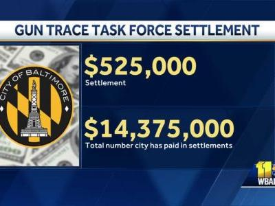 Another settlement reached in connection to Baltimore's Gun Trace Task Force