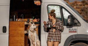 A Woman Left Her Job And Five-Year Relationship To Live In A Van With Her Dog