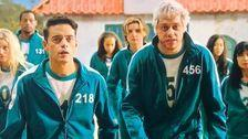 Rami Malek, Pete Davidson Spoof 'Squid Game' In Bloody Country Music Video On 'SNL'