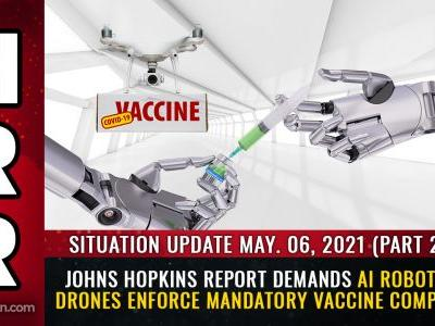Meet your automated, totalitarian medical police state future: Johns Hopkins demands AI robots and drones enforce covid vaccine war against humanity