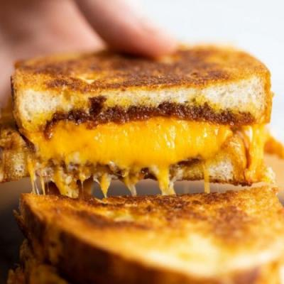 Toasted Cheese and Marmite Sandwich