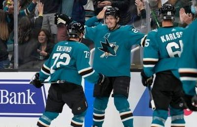 Sharks' rookies Eklund, Weatherby lead comeback win over Jets