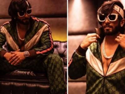 Ranveer Singh finds his Chi in Rs 2.7 lakh Gucci tracksuit. See pics