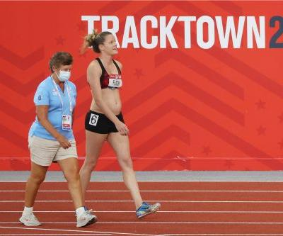 Pregnant heptathlete competed in Olympic trials in 100-degree heat