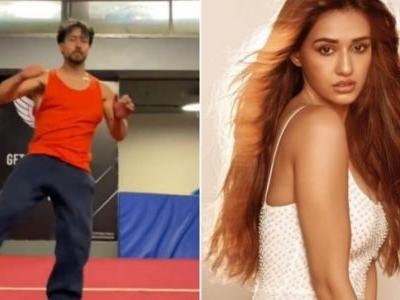 Tiger Shroff shares snippets from his workout routine on Instagram. Disha Patani reacts