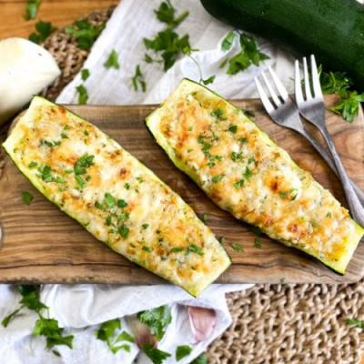 Spanish Stuffed Zucchini