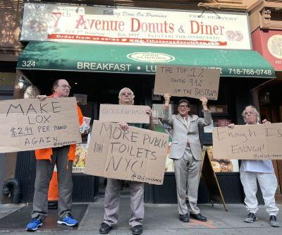 TikTok's 'Old Jewish Men' demand cheap lox, places to pee in NYC 'protests'