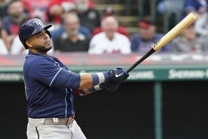 Cruz HR in Rays debut, Tampa Bay beats Cleveland 10th in row