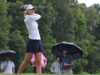 Nelly Korda sets a single round course record, takes lead to final day